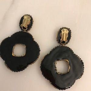Vintage Jewelry - Rhinestone 80's Statement Earrings